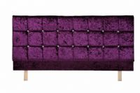 Crystal Headboard X Series in Velvet Brown, Cream, Purple or Red